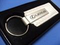 Lexus White Leather Key Chain