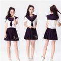紫 プリーツスカート セーラー服 学生服 コスプレ衣装
