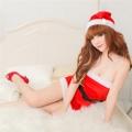 サンタ衣装 クリスマスコスプレ ベルト付き