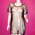 透けるメッシュ素材 ゆるだぼTシャツ(K2220)