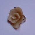 【FRANCE】シェルモチーフ ローズリング モード薔薇指輪(FR2786)