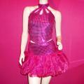 ダンス衣装 スパンコールセットアップ パニエスカート(T2208)