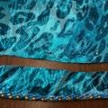 【お直し】ベリーダンス エジプト衣装 スカート丈つめ ビーズ付き(F2943)