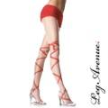 【LEG AVENUE】赤リボン模様 パンティーストッキング7512(US1053)