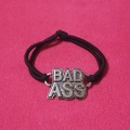 【50%OFF】【USA】BAD ASSチャーム付き ヘアーゴム(US3401)