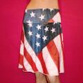【RANDOM world】アメリカ 星条旗スカート 2Way(US1848)