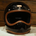 TT&CO  TOECUTTER SG/DOT LEATHER RIM SHOT HAND SEWN BROWN LEATHER BLACK