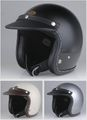 ジェットヘルメット用 レザー フラットバイザー