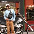 TT&CO 3 Pocket Shoulder Bag Diamond Genuine Leather