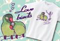 【Aniversa-T】結婚祝い おしどり夫婦Tシャツ