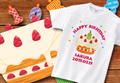 【Aniversa-T】バースデー ケーキTシャツ