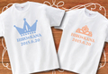 【Aniversa-T】結婚祝い クラウン&ティアラTシャツ