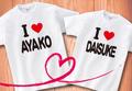 【Aniversa-T】結婚祝い アイラブTシャツ