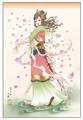 ポストカード「女神は春風の訪れと共に去る」