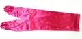 手袋 サテンロング ローズピンク