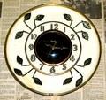 UNITED CLOCK(アメリカ) リーフモチーフウォールクロック 1960年代【W054】