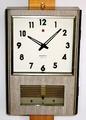 ナショナル トランジスタ柱時計 昭和40年代後半【W051】