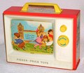 FISHER-PRICE TOYS Giant Screen Music Box TV 1966年【S024】