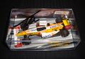 【レンタルケースG-10】ルノー別注 PMA 1/43 ルノー2009レースカー(ノンドライバー) F.アロンソ直筆サイン入