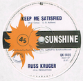 RUSS KRUGER / KEEP ME SATISFIED height=