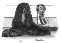 2001 Afghan Hound Plate