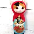 ★受注制作★イージーオーダー猫マトリョーシカBIG(赤ずきん)