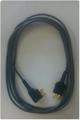 ポケット型補聴器用イヤホンコード 2芯 グレー