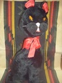 70's 黒猫ぬいぐるみ (商品番号O0034)