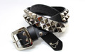 2ROW PYRAMID STUDS BELT【RISK×MODERN PIRATES】