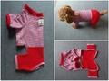 赤いパンツのオーバーオール Sサイズ