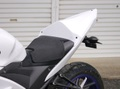 YZF-R25 シングルシート/レース/白ゲル*ビス止ver*シート高20mm up
