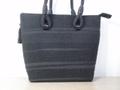 売り切れ・裂き織り・不祝儀にも使える黒のバッグ