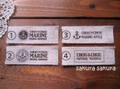 タグ*リネン マリン 4種類*5枚set