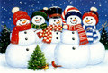 "Christmas Card ""Snow Man"""