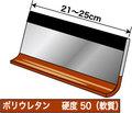 スキージ(ウレタン50、厚さ6mm)21〜25cm