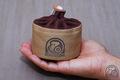 トランギア アルコールストーブ TRB25用 収納袋(帆布タイプ) ●帆布ベージュ+チョコ