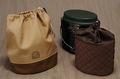 スウェーデン軍飯盒収納袋セット(外袋帆布ベージュ+チョコ、内袋チョコ)
