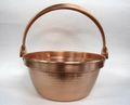 銅製 鎚目入 つる付山菜鍋 30cm