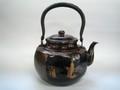 銅製 古色湯沸 八角(彫金模様入)4.5L