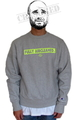 "SaturDIY Mens Reverse Weave Crew Neck Sweat - ""Fully Aircleaned"""