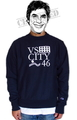 "SaturDIY Mens Reverse Weave Crew Neck Sweat - ""VS CITY"""