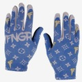 1FNGR Denim Monogram Gloves