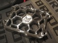 "Machined Machines Billet ""Honeycomb"" Radiator Cover Zoomer/Scoopy"
