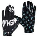 1FNGR Teal Monogram Gloves