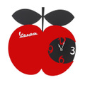 Vespa 壁掛け時計【FORME】【赤】