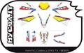 FANTIC TZ170, TX180 デカールキット40φマルゾッキ用(kit 1)黄ゼッケン