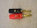 金メッキ バナナプラグ 4mm 赤・黒セット 各1個