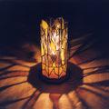 ステンドグラス八角行灯 『樹の輝き』