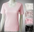 アトピーに脇 痒い 薬を使わず下着で対策 シルク絹100% 半袖インナーシャツ
