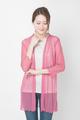 アトピー滲出液 汗 蒸れ 対策に 羽衣みたいに軽い メッシュカーディガン 絹シルク100% 7分袖ロング 送料無料